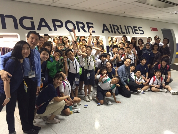 Primary 4 Students Visited SIA Open House