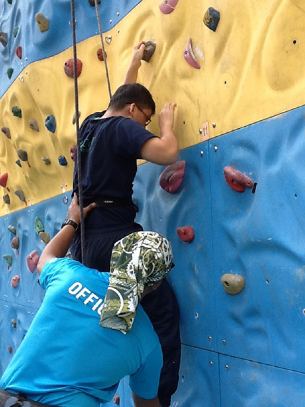 Rock Climbing with Yio Chu Kang Secondary School Students